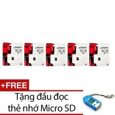 Mua Bộ 5 Thẻ Nhớ Kingston Micro Sdhc Class4 8Gb Đen Tặng 1 Đầu Đọc Thẻ Nhớ Mẫu Ngẫu Nhien Rẻ Trong Vietnam