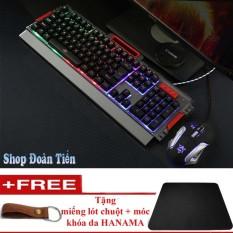 Hình ảnh Bộ bàn phím giả cơ và chuột chuyên game K33 Led tặng free lót chuột