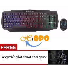 Hình ảnh Bộ bàn phím và chuột chuyên game Bosston G836 led 7 màu (Đen) + Tặng 1 miếng lót chuột chơi game