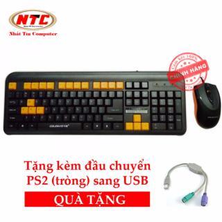 [HCM]Bộ bàn phím và chuột có dây Colorvis C87 - tặng kèm đầu chuyển PS2 sang USB (Đen) thumbnail
