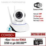 Chiết Khấu Combo Camera Hd Wireless Ip Yoosee X8100 Xoay 360 Độ Kem 1 Thẻ Nhớ Remax 32Gb
