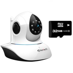 Bán Bộ Camera Ip Giam Sat Vantech Vt 6300A Wifi Trắng Va Thẻ Nhớ Micro Sd 32Gb Vantech Rẻ