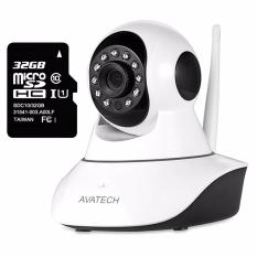 Bộ Camera Quan Sat Ip Wi Fi Avatech 6300B 1 3 Trắng Kem Kem Thẻ Nhớ 32Gb Hồ Chí Minh Chiết Khấu