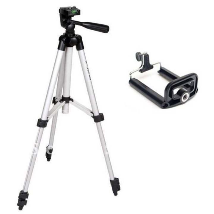 Bộ chân máy ảnh Tripod (Bạc)