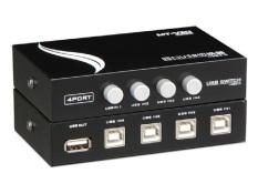 Hình ảnh Bộ chia 4 máy tính dùng chung 1 máy in Switch USB MT-VIKI (Đen)