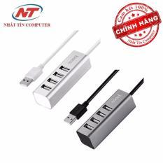 Bộ chia cổng USB Hoco HB1 - 4 cổng USB (Xám) - Hãng phân phối chính thức
