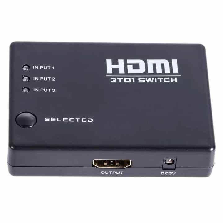 Bộ chia HDMI 3 ra 1 (Đen)