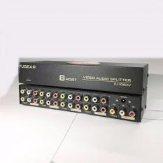 Hình ảnh Bộ chia tín hiệu Audio Video 1 vào 8 ra - FJGEAR-108AVc