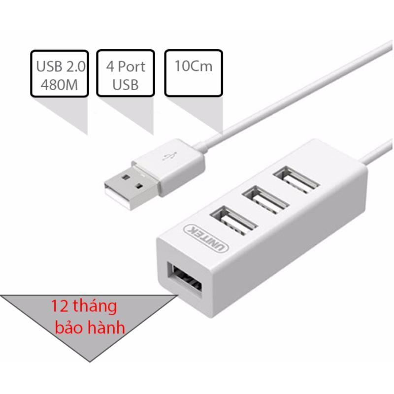 Bảng giá Bộ chia USB 2.0 4 cổng dây ngắn gọn 10Cm UNITEK Y-2146 (màu trắng) Phong Vũ