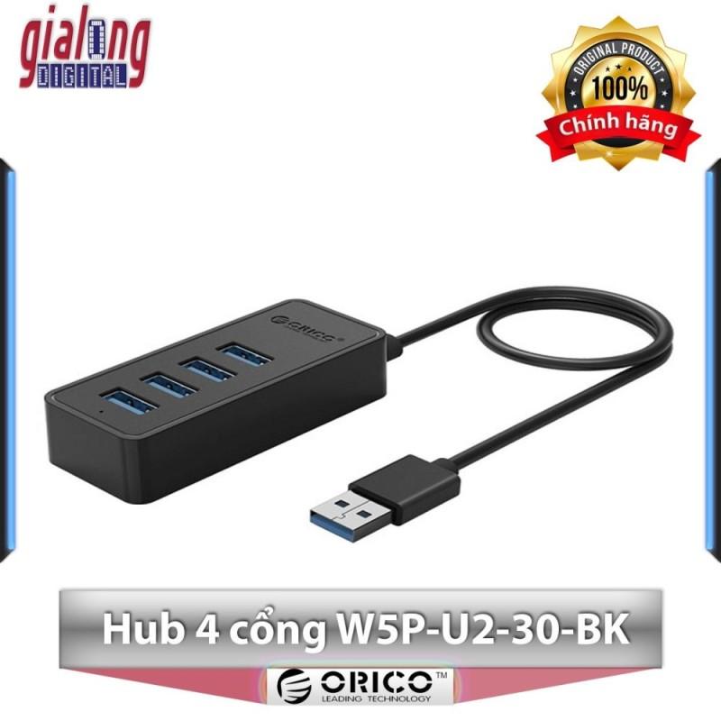 Bộ chia USB Hub 4 cổng  USB 2.0 W5P-U2-30-BK - Hàng phân phối chính hãng