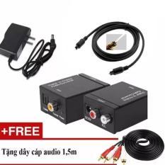Hình ảnh Bộ chuyển âm thanh TV 4K quang optical sang audio AV ra amply + Cáp optical 1.5m + Dây AV 4 Đầu bông sen