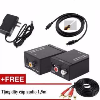 Bộ chuyển âm thanh TV 4K quang optical sang audio AV ra amply + Cáp optical 1.5m + Dây AV 4 Đầu bông sen thumbnail
