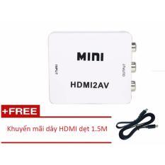 Ôn Tập Bộ Chuyển Đổi Mini Hdmi To Av Mhca01 Day Hdmi Dẹt 1 5M Hdmi