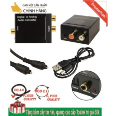 Bộ Chuyển đổi Tín Hiệu âm Thanh Quang Học (Optical - Tivi 4K), Coaxial Sang Audio L/R (AV Hoa Sen) Hoặc AUX (3.5 Mn) Nguồn USB, âm Thanh Cực To, Tặng Kèm Dây Quang Toslink Giảm Cực Sốc