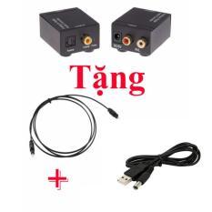 Hình ảnh Bộ chuyển đổi tín hiệu Optical sang AV (dùng cho Amply, Tivi, Androidbox) + tặng nguồn USB, dây optical