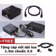 Ôn Tập Bộ Chuyển Đổi Từ Tin Hiệu Tivi 4K Quang Sang Av Tặng Cap Nối Dai Day Loa 1 5M