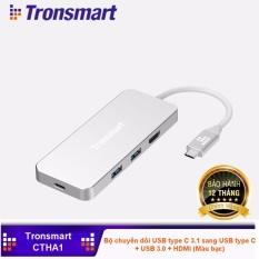 Hình ảnh Bộ chuyển đổi USB type C 3.1 sang USB type C + USB 3.0 + HDMI Tronsmart TM-237123 (CTHA1)