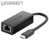 Bán Bộ Chuyển Đổi Usb Type C Sang Lan 10 100 Mbps Ethernet Dai Ugreen 30287 Mau Đen Nguyên