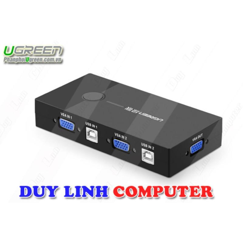 Bảng giá Bộ chuyển KVM 2 PC sang 1 Màn hình cao cấp Ugreen 30357 Phong Vũ