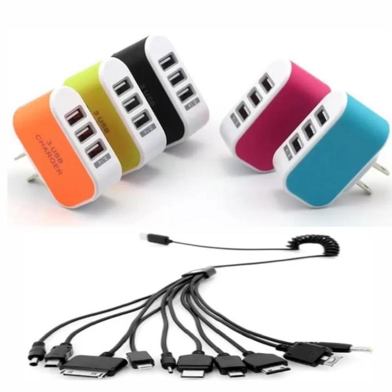Bộ Cốc sạc điện thoại đa năng 3 cổng USB + Cáp sạc    Hãy là người đầu tiên đánh giá sản phẩm này
