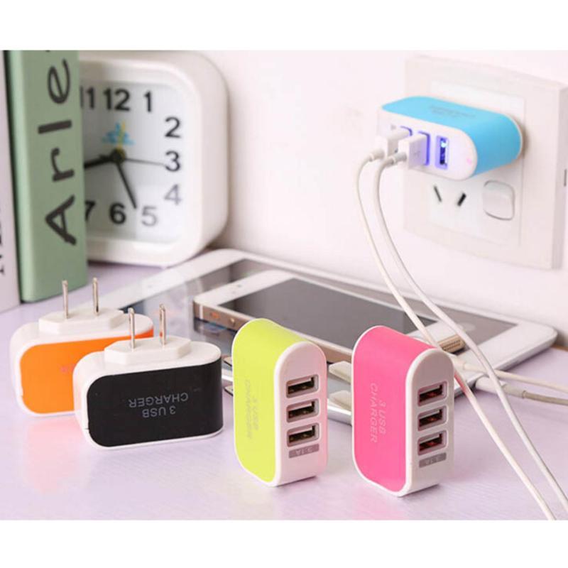 Bộ Cốc sạc điện thoại thế hệ mới 3 cổng USB +Tặng Cáp sạc 1 đầu ARUN cao cấp ( trắng)