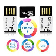 Bộ đầu đọc thẻ nhớ và thẻ nhớ 16GB Micro SDHC