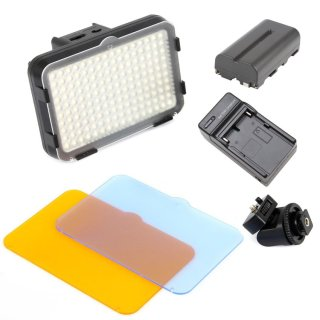 Bộ đèn LED quay phim SHOOT HD160 và pin sạc (Đen). thumbnail