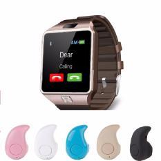 Bộ Đồng Hồ Thong Minh Smart Watch Uwatch Dz09 Va 1 Tai Nghe Tai Nghe Bluetooth Mini S530 Mau Săc Ngẫu Nhien Uwatch Chiết Khấu