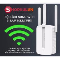 Giá Bán Bộ Kich Song Wifi 3 Rau Mercury Wireless 300Mbps Cực Mạnh Mới Rẻ