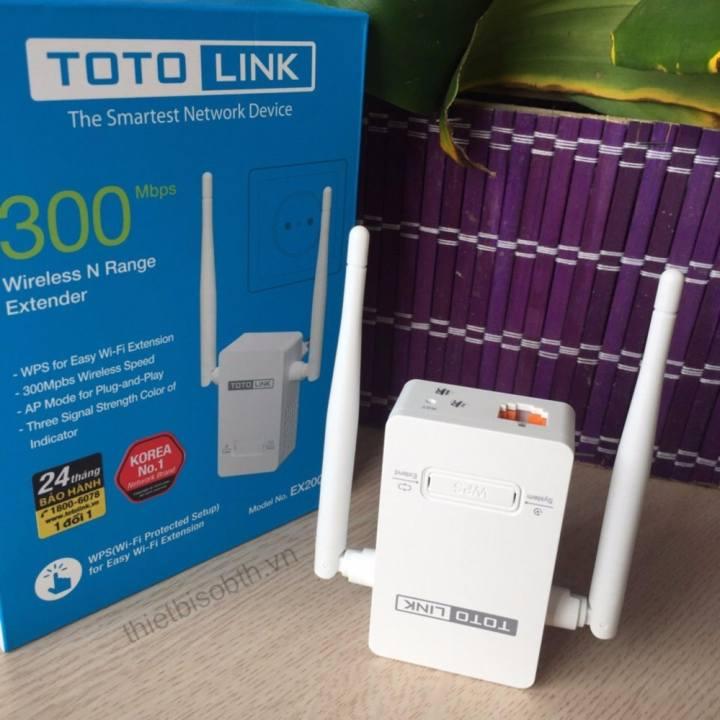 Bộ kích sóng WiFi TOTOLINK EX200 tốc độ 300Mbps
