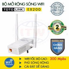 Bộ Kích Sóng WiFi TOTOLINK EX200 (Trắng) - Hãng Phân Phối Chính Thức Tương Thích Chuẩn IEEE 802.11b/g/n, Tốc độ Wi-Fi Lên Tới 300Mbps Đang Khuyến Mãi