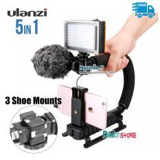 Hình ảnh Bộ Kit U-Grip 5in1 Triple 3 Shoe Mounts Ulanzi chống rung quay phim DSLR Điện thoại GoPro