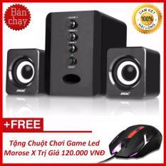 Hình ảnh Bộ Loa Máy Tính USB 2.1 SADA D-202 + Tặng Chuột Chơi Game Led Morose