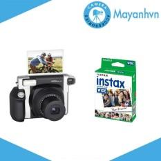 Bộ Máy ảnh Fujifilm Instax Wide 300 (Đen)  và Giấy in cho máy ảnh Fujifilm Instax Wide