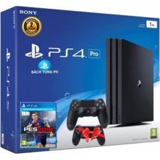 Hình ảnh Bộ máy Sony PS4 Pro 1 TB + tay dualshock 4 tặng kèm pes 2018