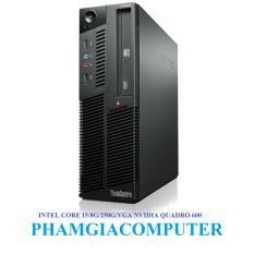 Hình ảnh Bộ máy tính LENOVO THINKCENTRE Intel Core i5 650 4 nhân x 3.20up Ram3 8G Hdd 250G VGA NVIDIA QUADRO 600- Hàng nhập khẩu-Đen.