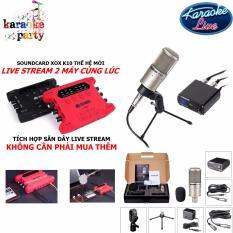 Bán Bộ Micro Hat Karaoke Live Stream Cao Cấp Nhất Của Takstar Pc K200 Kết Hợp Với Sound Card Thế Hệ Mới Nhất Của Xox K10X Tich Hợp Sẵn Day Live Stream