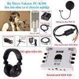 Giá Bán Bộ Micro Hat Karaoke Live Stream Cao Cấp Nhất Của Takstar Pc K200 Kết Hợp Với Sound Card Xox K10 Được Ưa Chuộng Nhất Năm 2017 Kem Theo Tai Nghe Kiểm Am Chuyen Nghiệp Day Livestream Ma2 Mang Lọc Am Pop S1 Oem Mới
