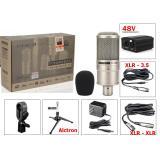 Giá Bán Bộ Micro Thu Am Karaoke Chất Lượng Cao Của Takstar Pc K200 Nguồn 48V Day Nối Mic Xlr 2 Đầu Day Xlr 3 5Mm Chan Đế Alctron Trực Tuyến