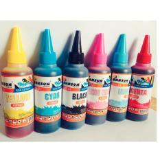 Hình ảnh Bộ mực 6 chai dành cho máy in phun Epson dye uv 100ml