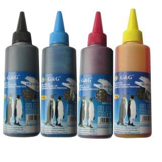 Bộ mực in phun 4 màu đen, xanh, đỏ, vàng G&G (NI 1020,1021,1022,1023) cho máy in HP Canon thumbnail