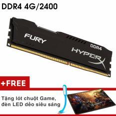 Bộ nhớ Ram PC Kingston Hyper Fury (4GB, DDR 4, Bus 2400Mhz) Tản Nhiệt Thép + Quà Tặng