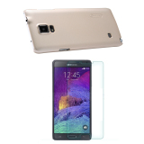 Giá Bán Bộ Ốp Lưng Cho Samsung Galaxy Note 4 Vang Nillkin Va Kinh Cường Lực Cho Samsung Galaxy Note 4 Trong Suốt Leather Mới