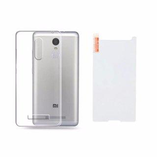 Bộ ốp lưng silicon Redmi Note 3 PRO ( trắng) + Kính cường lực 2.5 D thumbnail
