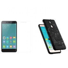 Mua Bộ Ốp Lưng Xiaomi Redmi Note 3 Pro Hoa Văn Đen Kinh Cường Lực 2 5D Trắng
