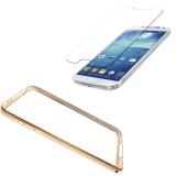 Bán Bộ Ốp Viền Nhom Cho Galaxy Note 2 Vang Bumber Va Miếng Dan Kinh Cường Lực Samsung Galaxy Note 2 Nguyên