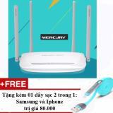 Giá Bán Bộ Phat Kich Song Wifi 300M Mercury 4 Ăngten Tặng 01 Day Sạc Điện Thoại 2 Trong 1 Cho Iphone Va Samsung Tốt Nhất