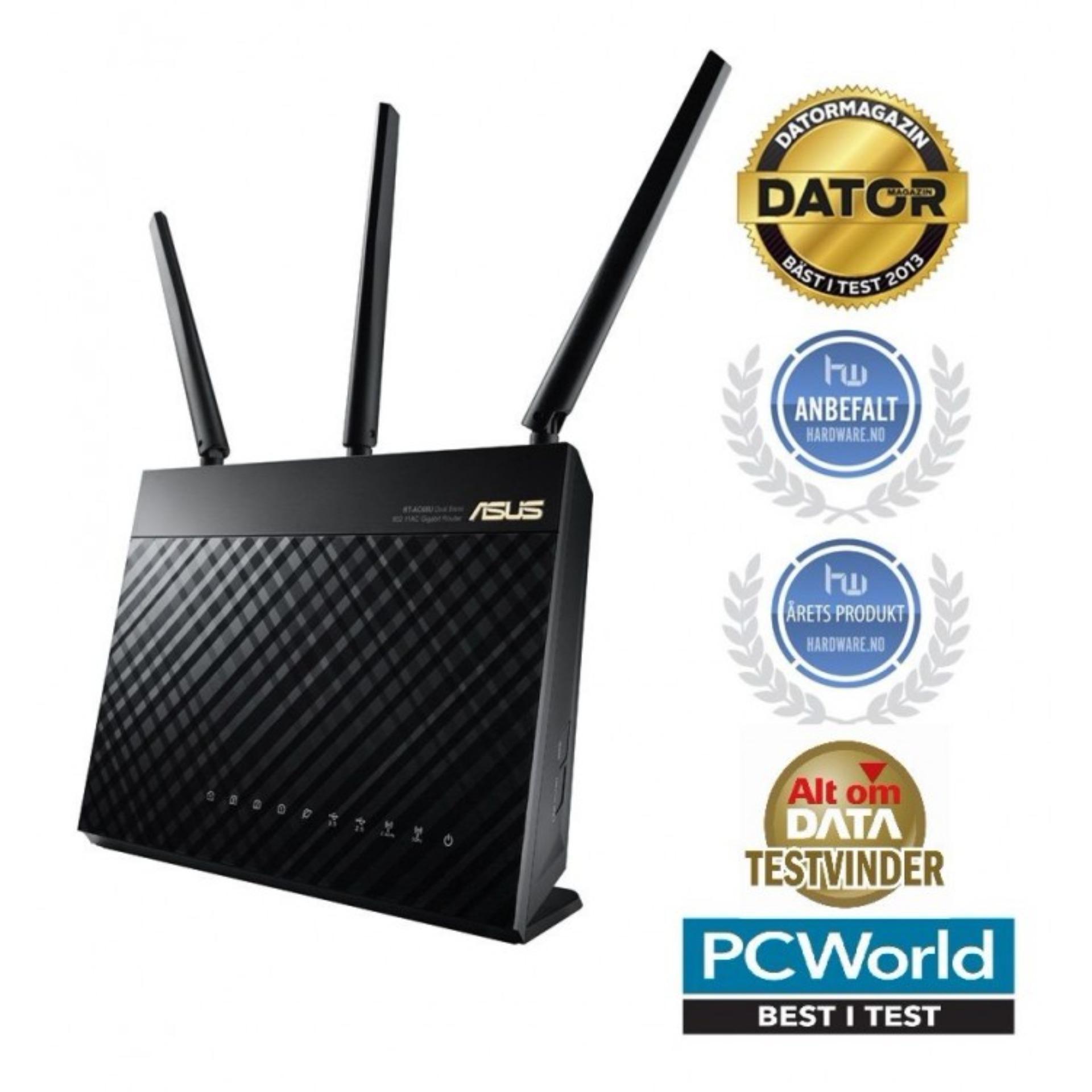 Bộ Phát Wifi Cao Cấp Asus Rt Ac68U Chuẩn Ac1900, Phát Sóng Cực Mạnh