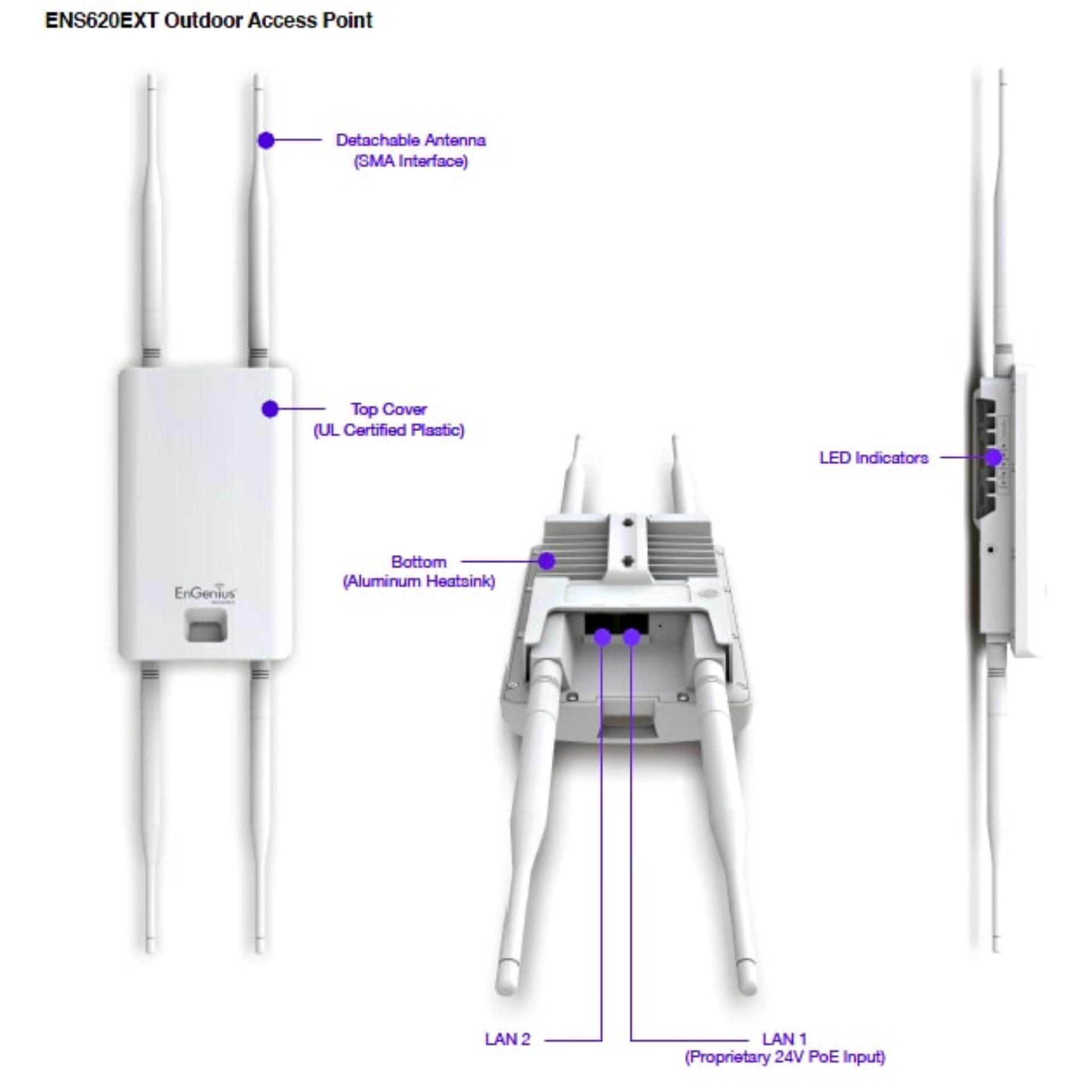 Bộ Phát Wifi Engenius Ens620Ext Dual-Band Ac1300 Outdoor Access Point
