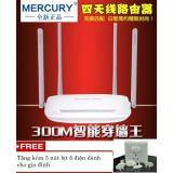 Bộ Phat Wifi Khong Day Sieu Mạnh 4 Ăng Ten Mercury Mw325R Tốc Độ 300Mbp Tặng Kem 5 Nut Bịt Ổ Điện Kstore Mercury Chiết Khấu 50
